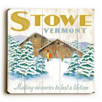 Personalized Winter Cabin Wood Sign