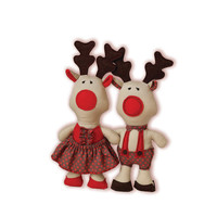 Reindeer Sewing Pattern PDF Stuffed Animal Red Nosed Reindeer Girl and Boy Plushie Pattern Holidays DIY Toy Christmas Decoration