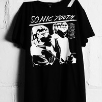 Sonic Youth Boy T Vintage Black