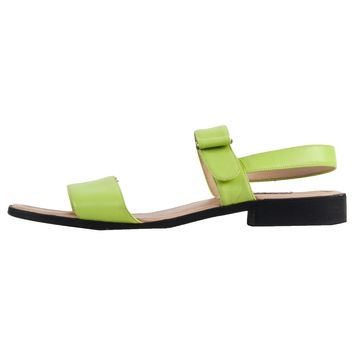 Lime Leather Sandals