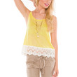 Natalie Lace Top - Yellow