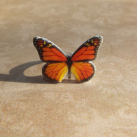 monarch butterfly ring butterfly jewelry adjustable band statement ring