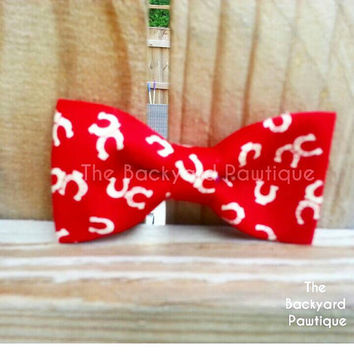 Bow Tie Collar Slide,  neckwear and bowtie, red bowtie, bowtie for dog, bow tie for pets, cowboy bowtie collar slider, horse shoe dog bowtie