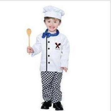 2017 Hot sale The new special costumes children photography Cosplay boys chefs clothing performance clothing Halloween clothes