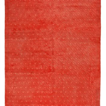 8x10 Overdyed Carved Modern Watermelon Red Rug 1136