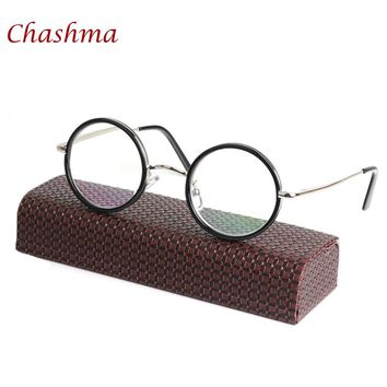 Chashma Brand Design Vintage Round Reader Retro Style Men Women Metal Reading Glasses Black Anti Reflective Eyewear