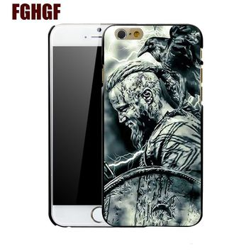 vikings Ragnar Lothbrok 5 fashion mobile phone hard case cover for iphone 4 4S 5 5S 5C SE 6 plus 6s plus 7 7 plus 8 8PLUS