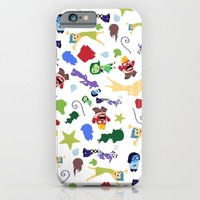 character pattern inside out iPhone & iPod Case by Studiomarshallarts