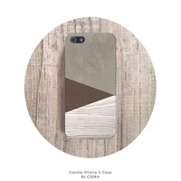 CHOCOLATE iPhone Case Wood Print Geometric iPhone 4 Case Pantone iphone 5 Case Mens iPhone 5s Case Mens Galaxy S4 Case CSERA Economy Line
