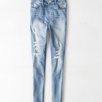 AEO 's Super Sky High Jegging (Medium Destroyed)