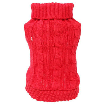 Newly Design Winter Dog Knitted Sweater Pet Clothes For Small Dogs