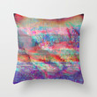 23-18-45 (Acid Rain Bed Glitch) Throw Pillow by acousticdemons