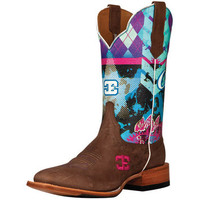 Cinch Edge Sky Bar Blue Top Cowgirl Boots