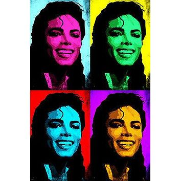 famous MICHAEL JACKSON singer multiple images POP ART POSTER 24X36 UNIQUE!