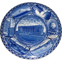 Seattle Souvenir- Staffordshire Plate -The Rowland And Marsellus Co. Early 1900's