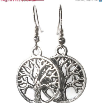 Tree of Life Earring, Nature jewelry, Charms Hippie Hipster Yoga Boho Tibetan Trendy, Charity
