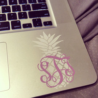 4 inch Pineapple Monogram in Vine or Circle