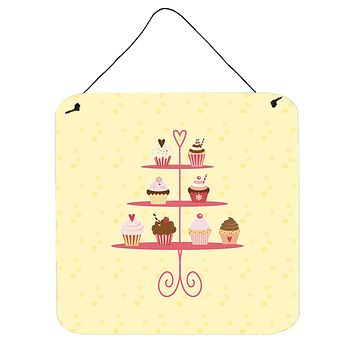 3 Tier Cupcakes on Yellow Wall or Door Hanging Prints BB7289DS66