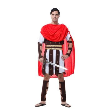 carnival halloween show warrior cosplay adult men Samurai Gladiator Roman genera