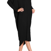 Accentuated Side Drape with Deep V-Cutout Dress