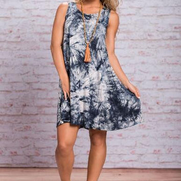 Tie Dye Print Loose Dress  12427