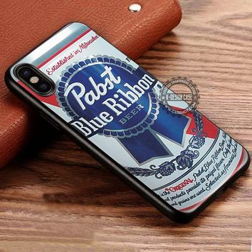Beer Blue Ribbon Pabst Whiskey iPhone X 8 7 Plus 6s Cases Samsung Galaxy S8 Plus S7 edge NOTE 8 Covers #iphoneX #SamsungS8