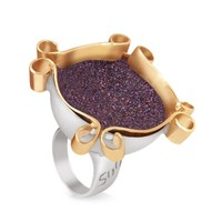 Naoto Designer Rings Omaggio a Palladio Purple Ring