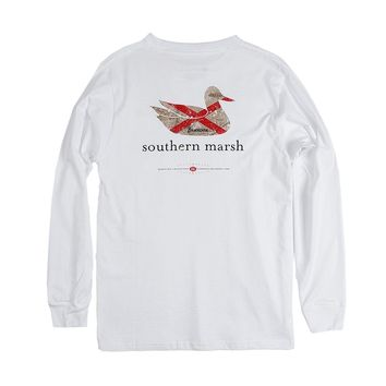 Authentic Alabama Heritage Long Sleeve Tee in White by Southern Marsh