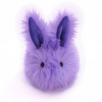 Pansy the Lavender  Easter Bunny Faux Fur  Momma Size Plushie