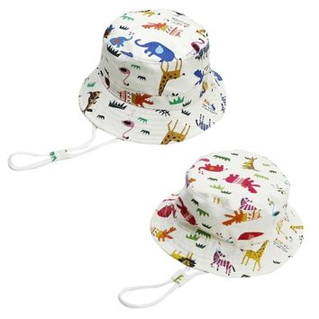 Baby Toddler Kids Bucket Hat Baby Toddler Infant Girl Reversible Bucket Sun Hat UV Protection Children Bucket Sun Hat adjustable