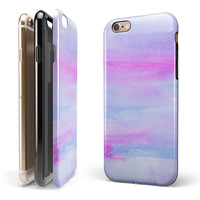 Tie Dyed Absorbed Watercolor Texture iPhone 6/6s or 6/6s Plus 2-Piece Hybrid INK-Fuzed Case