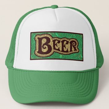 Beer Logo - Mint GreenTexture Look Trucker Hat