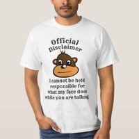 Official Disclaimer -- Funny T-shirt Casual Style