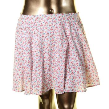 Denim & Supply Ralph Lauren Womens A Line Floral Print Mini Skirt