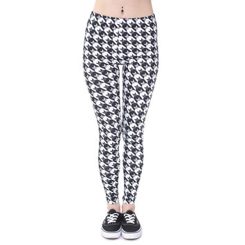 Cool Colorful Checkered Black& White Leggings