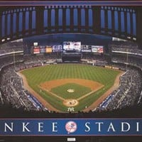 New York Yankees Stadium MLB Baseball Poster 22x34
