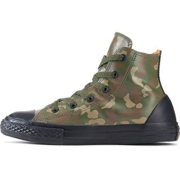 Converse For Kids: Chuck Taylor All Star Rubber Green Camo Sneakers
