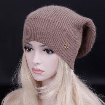 CREYCI7 2016 Top quality New brand fashion female casual Hat Winter Warm Beanie Caps warm Skullies hats for women bonnet Warm snow cap