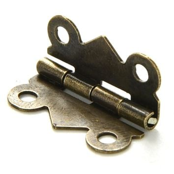 10PCS 20x17mm DIY Vintage Antique Brass Butterfly Hinge for Jewelry Box Repair Model Making Storage Box (without screw)