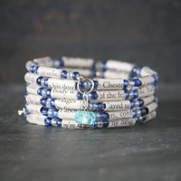 The Great Gatsby Book Bead Charm Bracelet