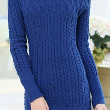 Blue Sweater Dress