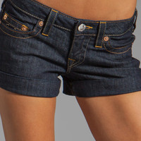 True Religion Allie Cuffed Short in Body Rinse from REVOLVEclothing.com
