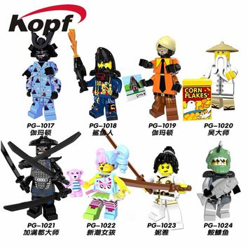 Single Sale Super Heroes Latest Ninja Item Nya Gamma Garmadon Flashback Gnea Kozu 71019 Building Blocks Toys for children PG8070