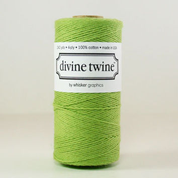10 yards/ 9.144 m Solid Spring Green Bakers Twine, Spring Grass Green Divine Twine