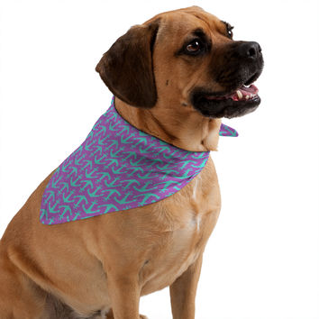 Allyson Johnson Purple Anchors Pet Bandana