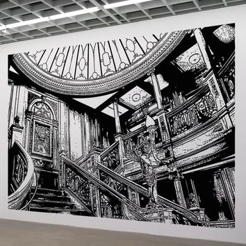 Titanic's Grand Staircase Wall Decal. #5286