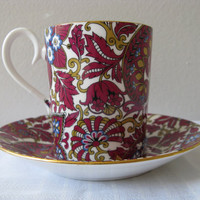 Vintage Mug Royal Albert Arabesque Demitasse Cup by pillowsophi