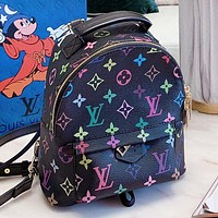 LV New fashion multicolor monogram print leather backpack bag handbag