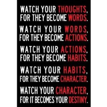 (13x19) Watch Your Thoughts Motivational Poster