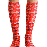 Go Red Knee High Socks